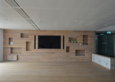 tv kastwand inbouw project