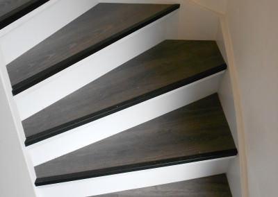 dichte trap trapbekleding met laminaat